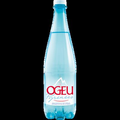 Eau minérale naturelle gazeuse OGEU, bouteille de 1l