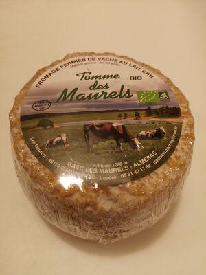 Tomme Maurels LAIT cru entier de vache 34%MG, 400g