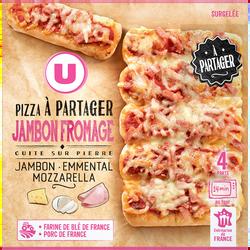 Pizza à partager jambon fromage U, 500g