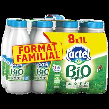 Père Dodu Lait Bio Demi- Écrémé Uht - Lactel - 8x1l