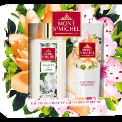 Coffret bouquet de jasmin MONT SAINT MICHEL, eau de colonne 75ml + lait parfumé pour le corps 75ml