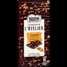 Chocolat noir caramel pointe de sel LES RECETTES DE L'ATELIER, 115g