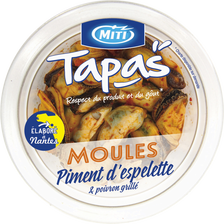 Moules piment espelette poivron, MITI, Transformé en France, 80g