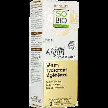 SO'BiO étic Sérum Hydratant Régénérant Peaux Matures Précieux Argan So Bio, 30ml