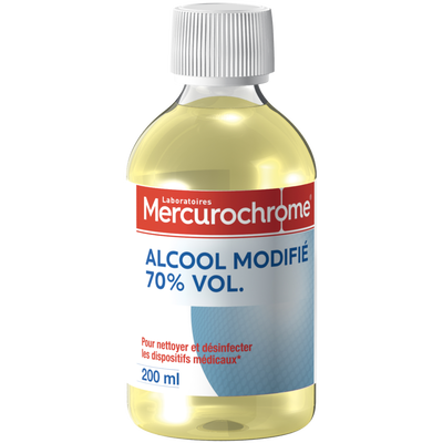 Alcool à 70° modifié MERCUROCHROME, flacon 200ml