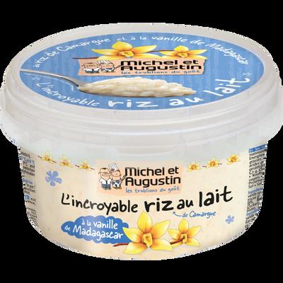 Riz au lait à la vanille de Madagascar MICHEL ET AUGUSTIN, pot de 400g