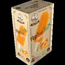 Bâtonnets à l'eau Pop'Fruit abricot bio MAISON DE LA GLACE, 4 unités,280g