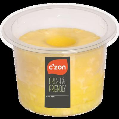 Ananas frais tranché, CZON, barquette, 350g
