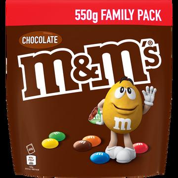 M&M's M&m's Chocolat Au Lait 70% Enrobé De Sucre Fin Et Dragéifié 550g, Format Familial