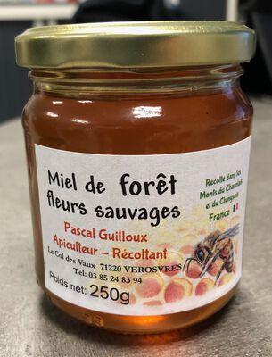 Miel de Fôret, fleurs sauvages, Pascal GUILLOUX, pot en verre 250G
