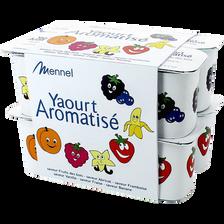 Yaourt sucré aromatisé panaché, 12x125g