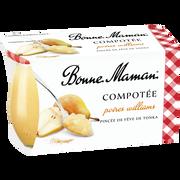 Bonne Maman Dessert Poire Tonka En Compotée Bonne Maman, 2 Pots De 130g