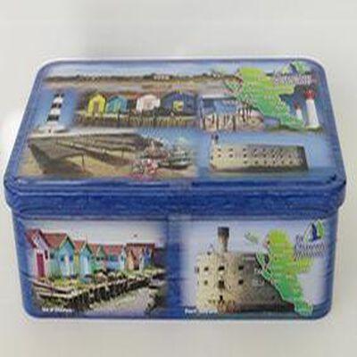 Biscuits Pur Beurre, boite métal déco carte postal de la Charentes Maritime, 240 gr, Goulebenéze