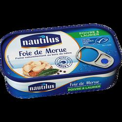 Foie de morue au poivre et au laurier NAUTILUS, boite de 115g
