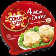 Cœur de Lion Camembert Mini À Dorer Nature Lait Pasteurisé 20% De Mg, Coeur De Lion, 4x90g