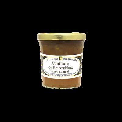 Confiture poires noix au miel RUCHERS DE BOURGOGNE, 375g