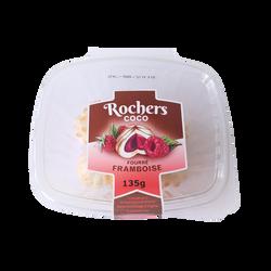 Rocher coco fourré framboise, barquette 135g