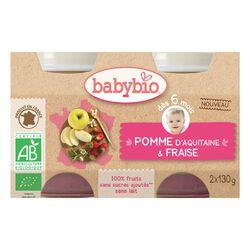 Petits pots Pomme Fraise - 2 x 130g BABYBIO
