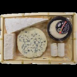 Plateau des traditions fromagères 5 fromages (bouchon chèvre 2x30g, stMarcellin 170g, brie de Meaux 170g, fourme 175g, reblochon 120g, 595g