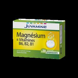 JUVAMINE MAGNÉSIUM + VITAMINES B6, B2, B1, 30 comprimés effervescents