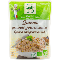Quinoa graines gourmandes sans gluten JARDIN BIO, doy pack de 220g