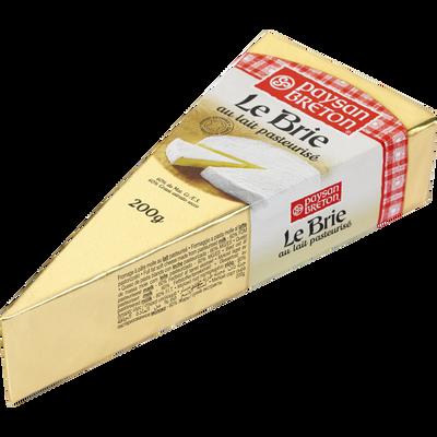 Pointe de brie lait pasteurisé vache PAYSAN BRETON, 60% de MG, 200g
