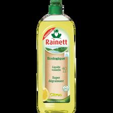 Liquide vaisselle citron super dégraissant, RAINETT, ecolabel, flaconde 750ml