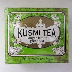 Thé vert gingembre-citron 20 sachets KUSMI TEA,44g