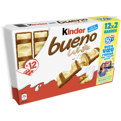 KINDER bueno white pack, T12x2 barres, 468g