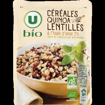 Céréales quinoa lentilles à l'huile d'olive 2% U BIO, sachet de  250g