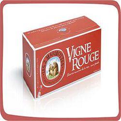 Infusion Vigne rouge, LES 2 MARMOTTES, la boite de 30 sachets, 45g.