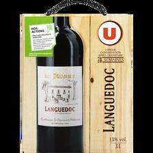 Vin rouge AOP Languedoc Les Pluviers U, fontaine à vin de 3l