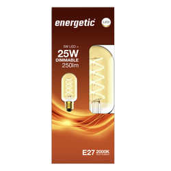 Led déco spirale 20w e27 doré ENERGETIC-spirale tube-t45 4,5w_250ml