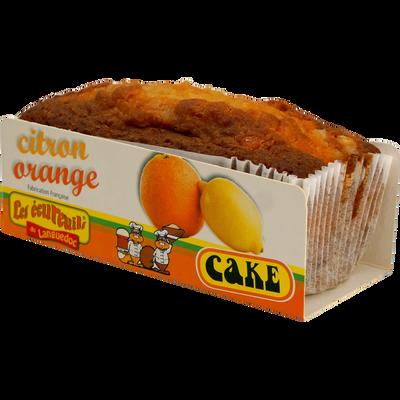 Cakes citron orange LES ECUREUILS DU LANGUEDOC, paquet de 350g