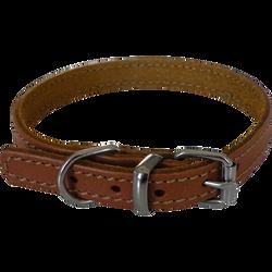 Collier cuir marron éco yago, S, AIME