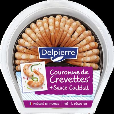 Couronne de queues de crevettes cuites décortiquées et sauce cocktail,130g