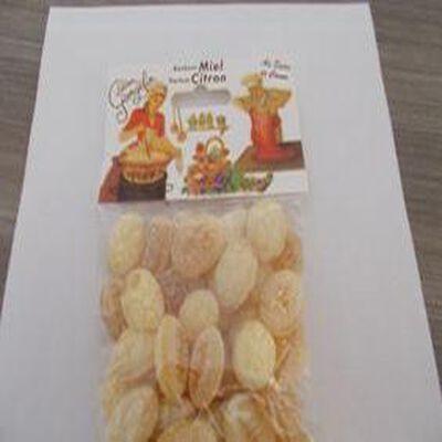 Bonbons miel, parfum citron,sachet de 150 gr. LUCIEN GEORGELIN