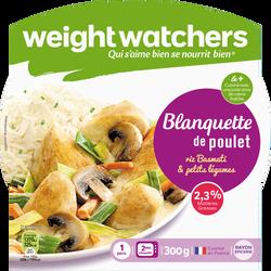 Blanquette de poulet, riz basmati et petits légumes WEIGHT WATCHERS, barquette micro-ondable de 300g
