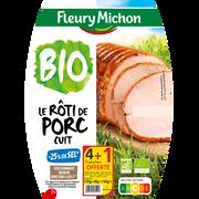 Fleury Michon Rôti De Porc Supérieur Bio -25%sel Fleury Michon, 4 Tranches + 1 Offerte Soit 150g