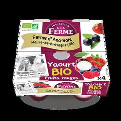 Yaourt aux fruits rouges, LA FERME D'ANA SOIZ, 4x125g