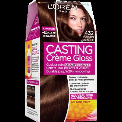 Coloration Sans Ammoniaque Marron Supreme N 432 Casting Creme Gloss