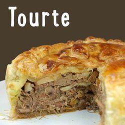 TOURTE de Canard et foie gras,  pour 1 personne