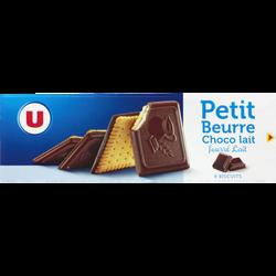 Biscuits petit beurre chocolat lait fourré U, boîte de 150g