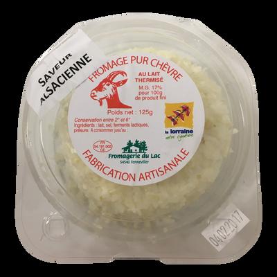 Fromage pur chèvre saveur Alsacienne lait thermisé 17% de MG FROMAGERIE DU LAC 125g