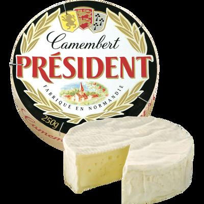 Camembert au lait pasteurisé PRESIDENT, 20%MG, 250g