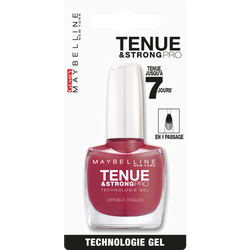"""Vernis à ongles """"Tenue et strong"""" n°202 really rose - blister MAYBELLINE"""