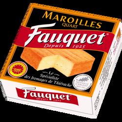 Maroilles quart AOP au lait pasteurisé 26%MG FAUQUET, 210g