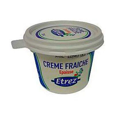 Crème fraîche épaisse paseurisée ETREZ, 36%MG, pot de 20cl