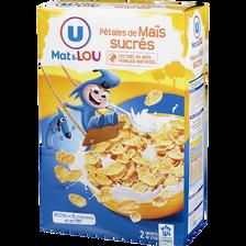 Pétales de maïs glacés au sucre U MAT ET LOU, 750g