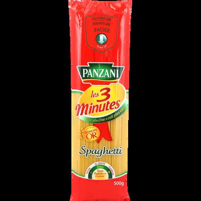 Pâtes spaghetti cuisson rapide PANZANI, paquet de 500g